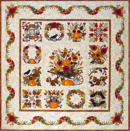 Baltimore Album Autumn BOM P3 Designs Set 13 Quilt Patterns
