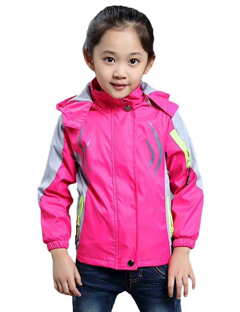 Girl's Athletic Outerwear Zip-up Waterproof Wind Jacket