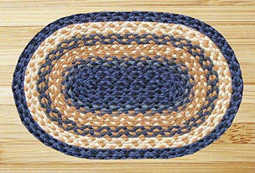 Earth Rugs 52-PM079 Placemat, 13 x 19, Light Dark Blue/Mustard