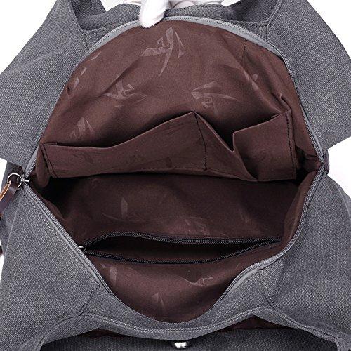 Tracolla Nclon Signore Tote Tela Donna Bag Singolo A Del Borse bianco Borsa Nuovo Mano Riso Di Nero vqrvw0Px