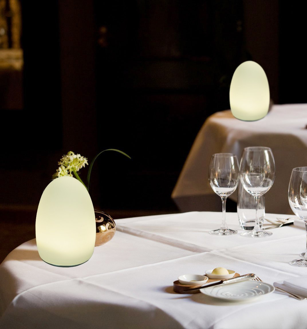 HERO-LED TB-EG-01 Restaurant Table Lighting, Wireless Induction Rechargeable LED Cordless Table Lamps with Remote Timer Controller, Set of 2, Egg 01 by HERO-LED (Image #6)