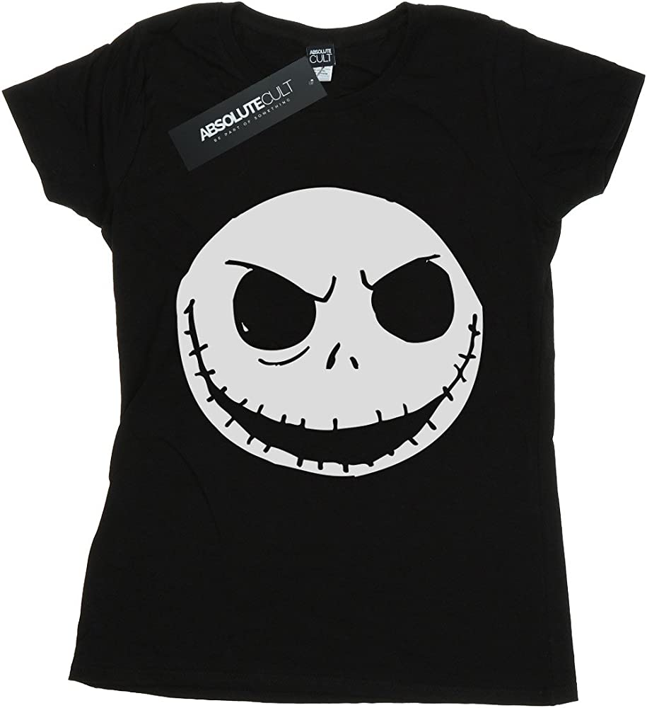 Jack Skellington Face Nightmare Before Christmas Women Gilrs Halloween T-shirt