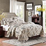 XQL 100% Cotton American Country 3 Pieces Birds Printed Quilt Set - King Size