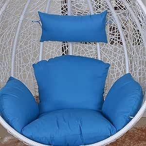 NACHEN Cojines de Columpio para Exteriores Cojín para Silla de jardín Terraza de ratán Cojín para Asiento de colchón Colgante de jardín,Color10: Amazon.es: Hogar