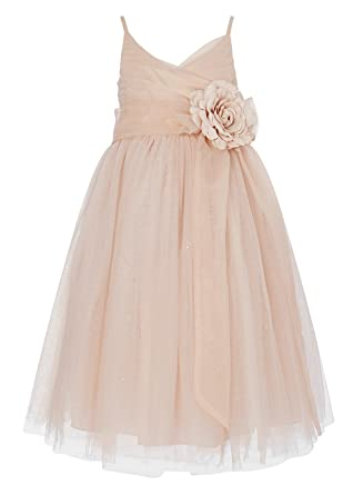 daab36cea922d Image Unavailable. Image not available for. Color: Princhar Tulle Flower  Girl Junior Bridesmaids Little Girl Toddler Dress, 12 Tall, Blush Pink