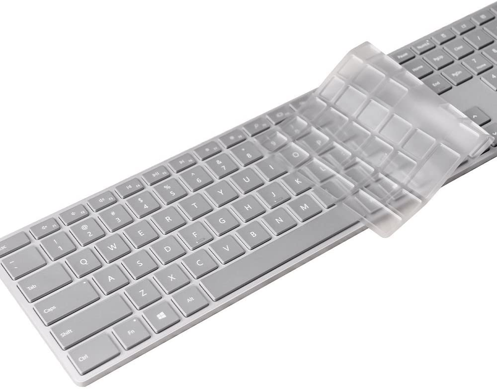 Leze Ultra Thin Soft TPU Keyboard Protector Skin Cover for Microsoft Wireless Surface Studio Keyboard Released October, 2016