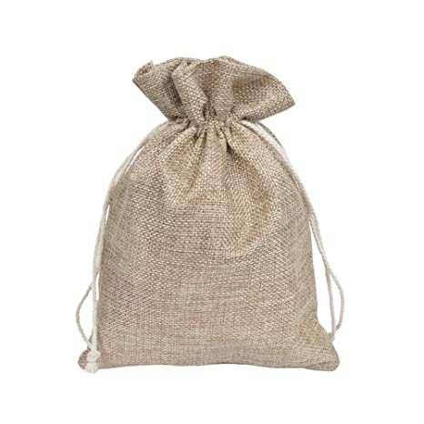 CZSM Paquete de 20 Bolsas de algodón con Lazo de arpillera ...