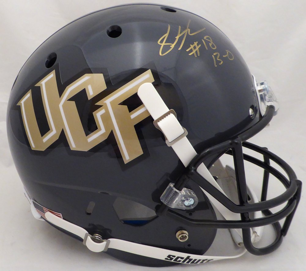 Shaquem Griffin Autographed UCF Golden Knights Full Size Gray Replica Helmet13-0 MCS Holo