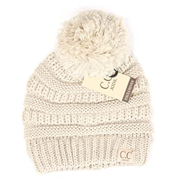 e55f9bc99 Motobear Exclusives Kids Beanie Hat Baby Toddler Knit Children Pom Winter  Hat Beanie Kids 2-7 Years old-17 Colors POM