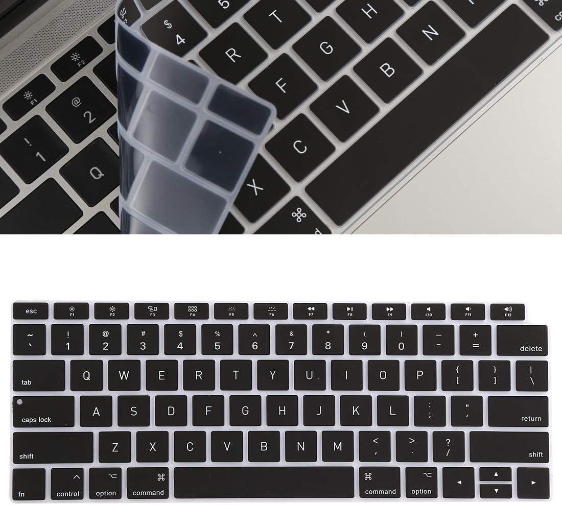 Noir Color : Transparent Film Protecteur LYNQYGKeyboard Fournir Une Protection compl/ète du Clavier Protector Film Gel de silice for MacBook Air 13 A1932