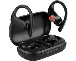 Redlemon Audífonos Bluetooth Inalámbricos 5.0 HD True Wireless Stereo Deportivos con Base de Carga y Manos Libres, Auriculare