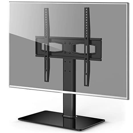Amazoncom Fitueyes Universal Tv Standbase Tabletop Tv Stand With