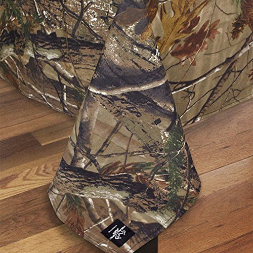 Design Imports Realtree AP Cotton Tablecloth Camouflage Print 54-Inch by 54-Inch Square