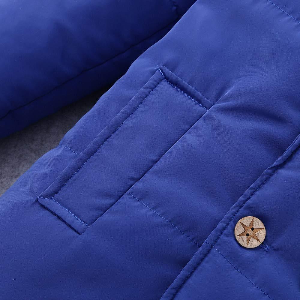 OCEAN-STORE Winter Kids Baby Boys Girls 0 Months-7T Hooded Jacket Chidren Warm Thick Coat Outerwear Clothes