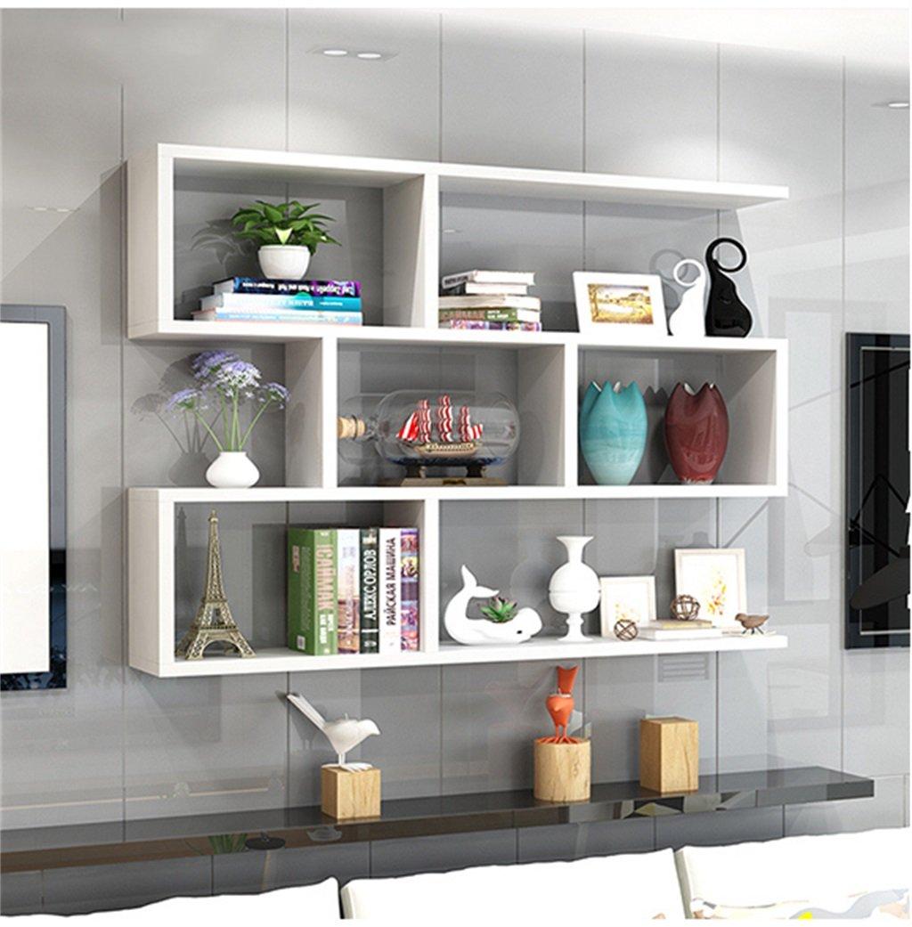 Mei Xu 白いウッドの壁の棚のリビングルームの寝室の壁掛けブックシェルフのストレージラックの壁のキャビネットユニットシェルフの壁の装飾のデザイン シェルフ (Size : 80cm*15cm) B07TP9MMX2  80cm*15cm
