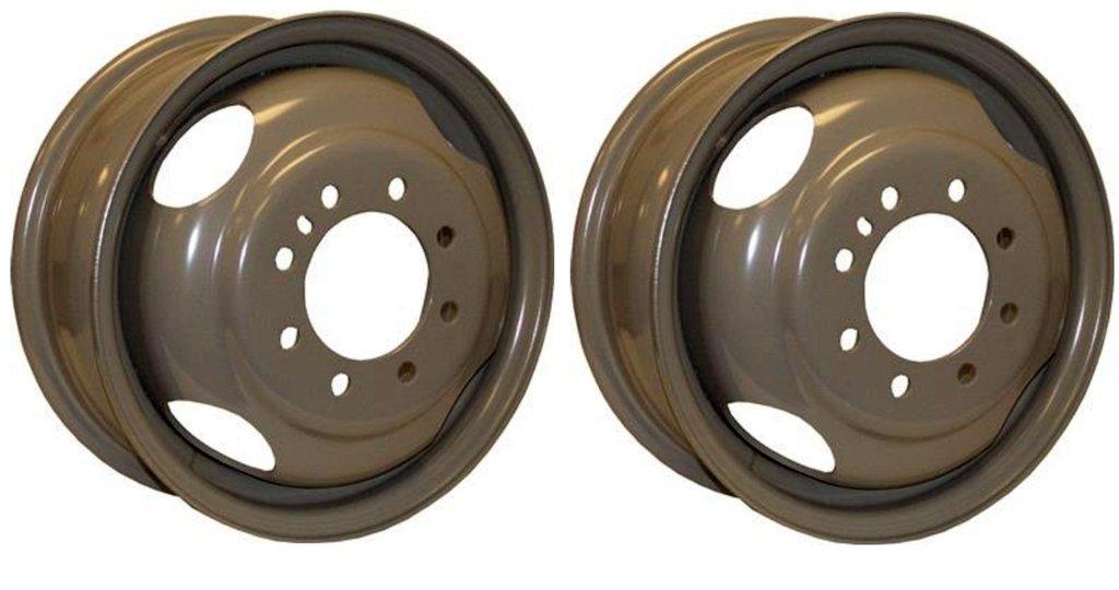 2-Pk Rim 16X6 8-6.5 Silver Dual E-C 4.77 CB 3200#