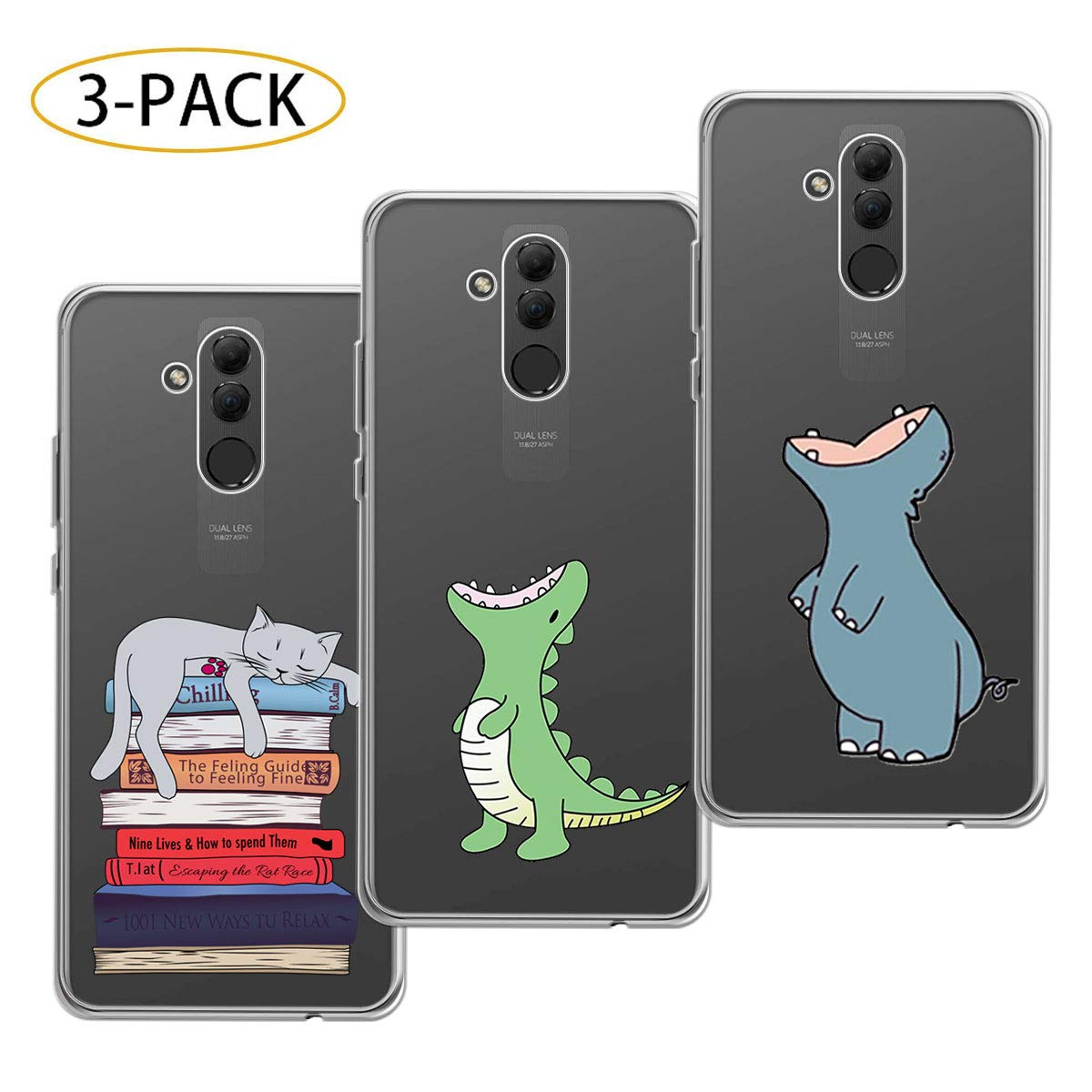 Amazon.com: HYMY 3X Case Cover for Huawei Mate 20 Lite ...