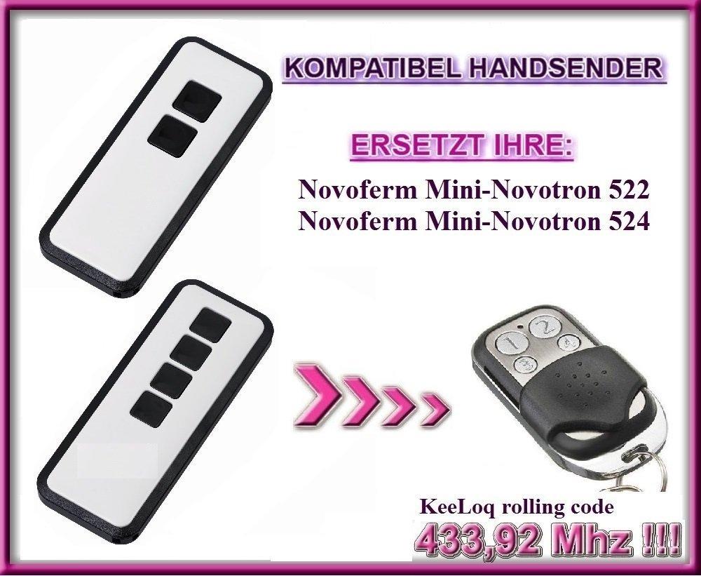 433.92Mhz rolling code 4-kanal ersatz sender Top Qualit/ät ersatzger/ät!!! MIX43-2 kompatibel handsender NOVOFERM NOVOTRON 512