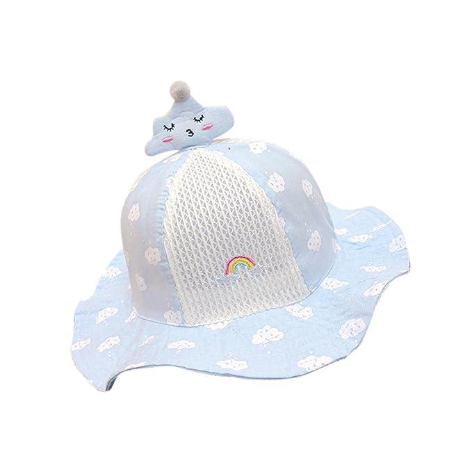 huateng Cappello da sole per bambini Cappello da pescatore Cappello da  cowboy estivo in cotone per d8a43376a011