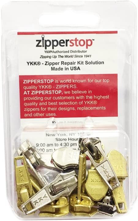 20, Black ZipperStop Wholesale Authorized Distributor YKK/® #3 Coil Invisible Zipper Closed Bottom 3pcs