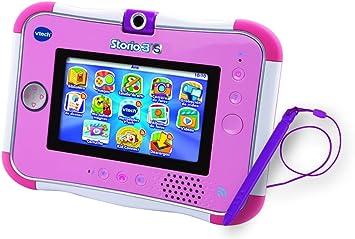 VTech Storio 3S Tablet Educativo para niños, Color Rosa, versión española (3480 158867)