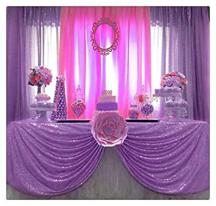 Amazon SoarDream Sequin Table Cloth Lavender 50x80 Glitter Decoration For Halloween Party Birthday Home Kitchen