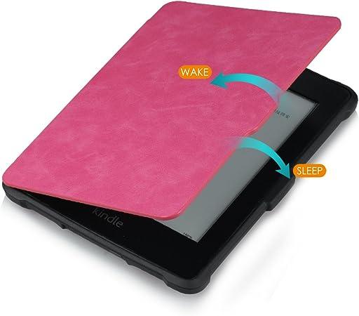 Funda para Kindle Paperwhite Piel, funci/ón de Apagado autom/ático, Compatible con Todas Las Generaciones de Paperwhite Antes de 2018 Pinhen Slimshell