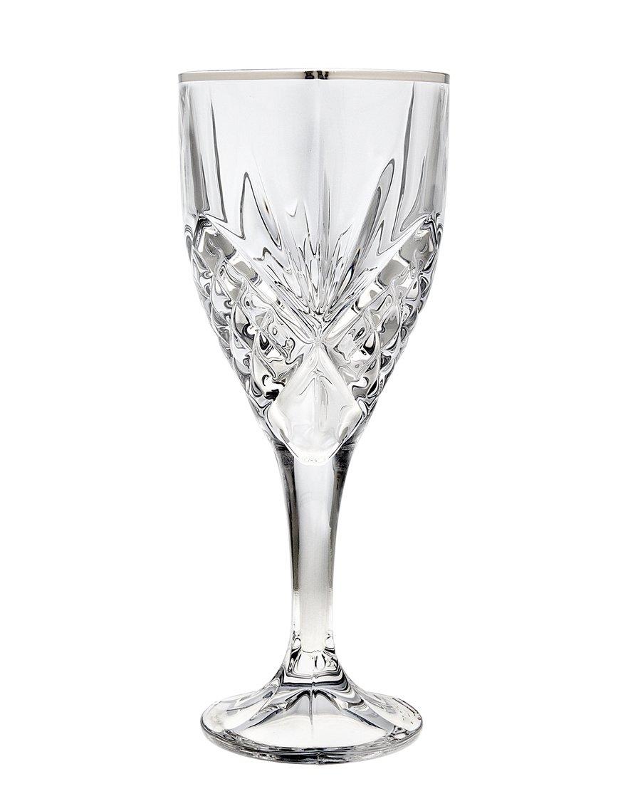 COMINHKPR31760 Godinger Dublin Platinum Crystal 9-ounce Goblets Set of 4