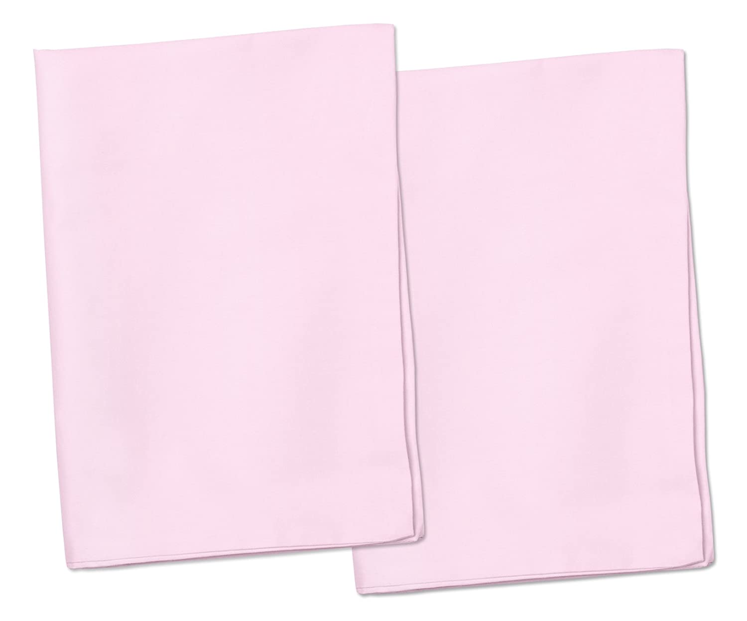 2 Pink Toddler Pillowcases - Envelope Style - For Pillows Sized 13x18 and 14x19 - 100% Cotton With Soft Sateen Weave - Machine Washable ZadisonJaxx ZJP-ZJTPC2PCS