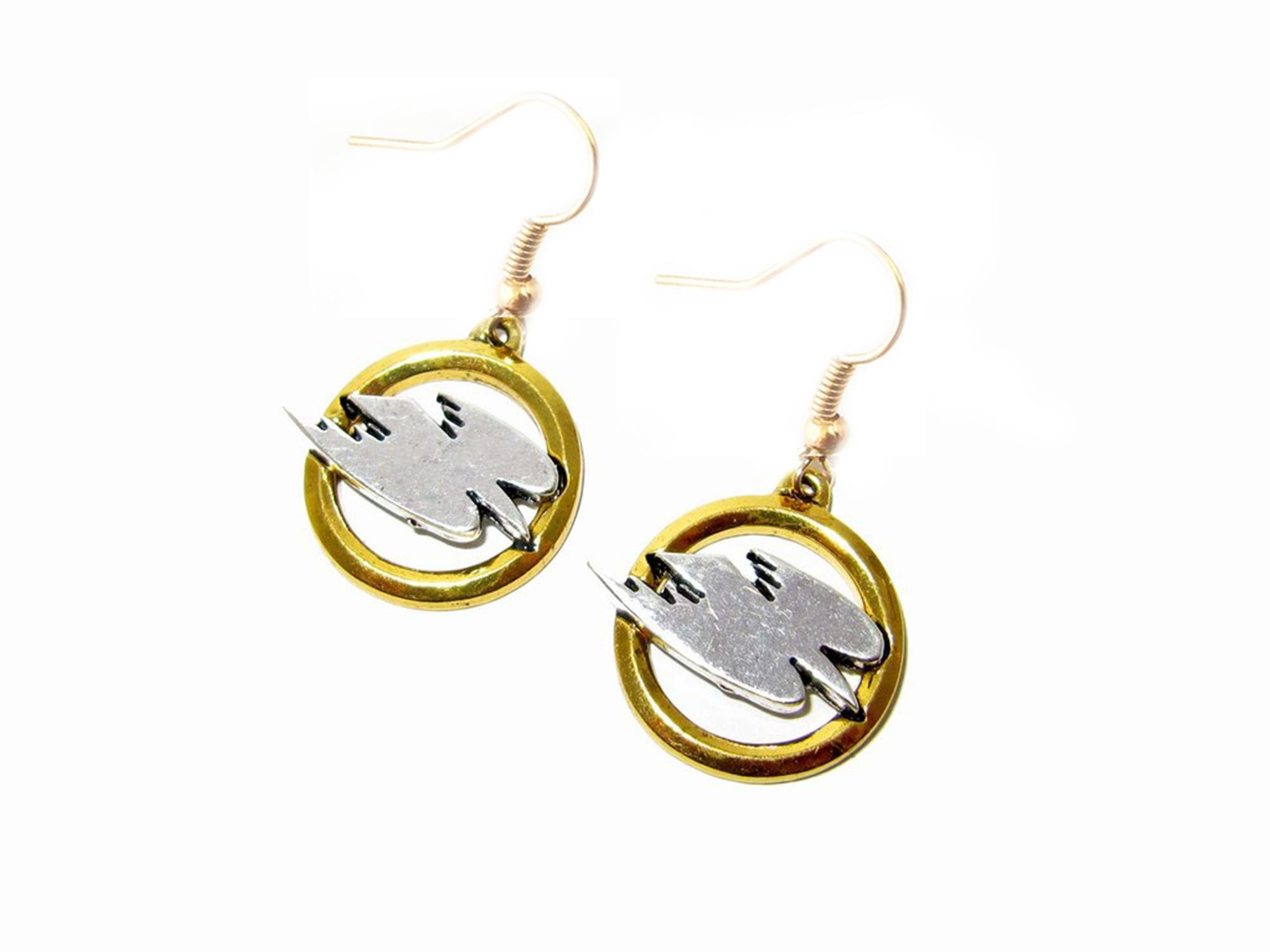 Outlander Legends Of Tomorrow White Canary Earring Dangles In Gift Box From