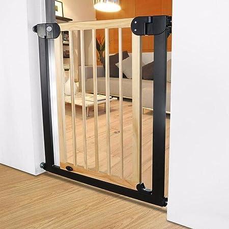 ZX-Puerta de Seguridad\Barandilla de Escalera\Barra de Seguridad para niños\Valla de Madera Maciza\Valla de Cocina para bebé\Puerta de Barrera: Amazon.es: Hogar