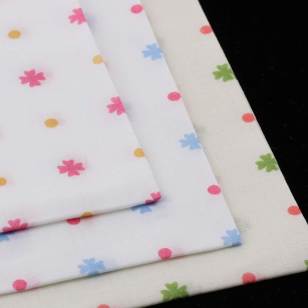 Fenteer 3 Pieces Soft Cotton Handkerchief Girls Party Kerchiefs Women Pocket Towel