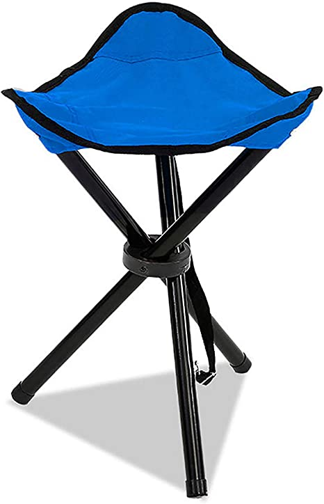 Mini Size Portable Stable Travel Chair Tri-Leg Stool for Outdoor Travel Camping Fishing Hiking Mountaineering Gardening Messar Folding Tripod Stool