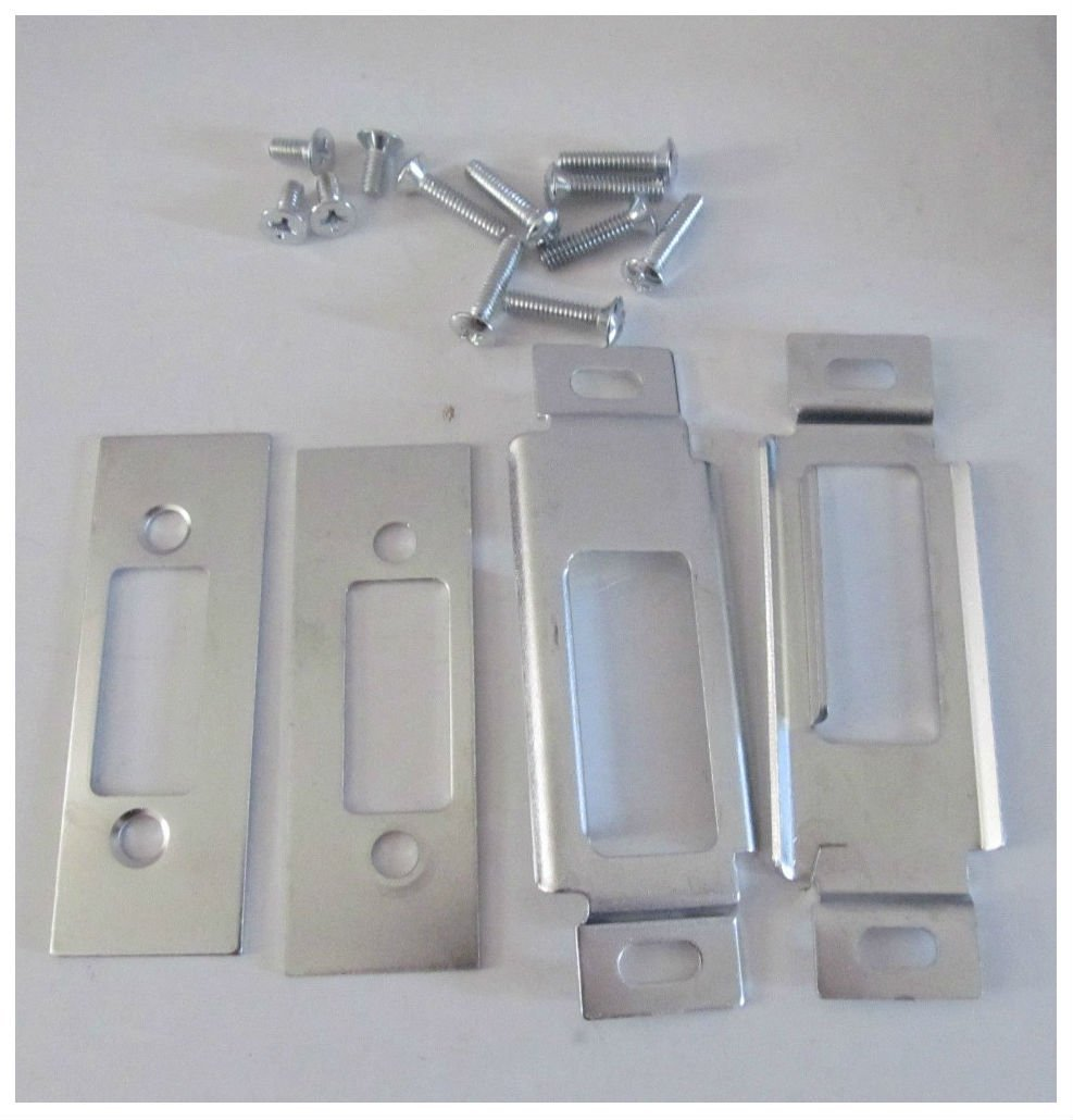 2 White RV Entry Door Lock Handle Deadbolt Keyed Alike Travel Trailer CW FIC by Unknown (Image #3)