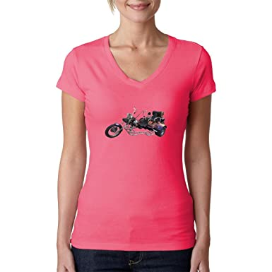 Biker Girlie V-Neck Shirt - Biker Motiv Trike Chopper by Im-Shirt -