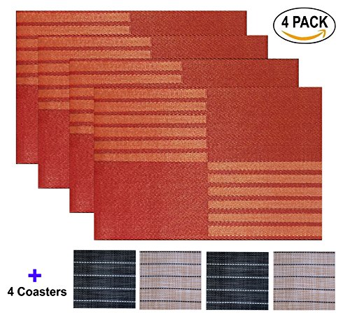 QUANFUN Placemats Placemat Heat resistant Crossweave product image