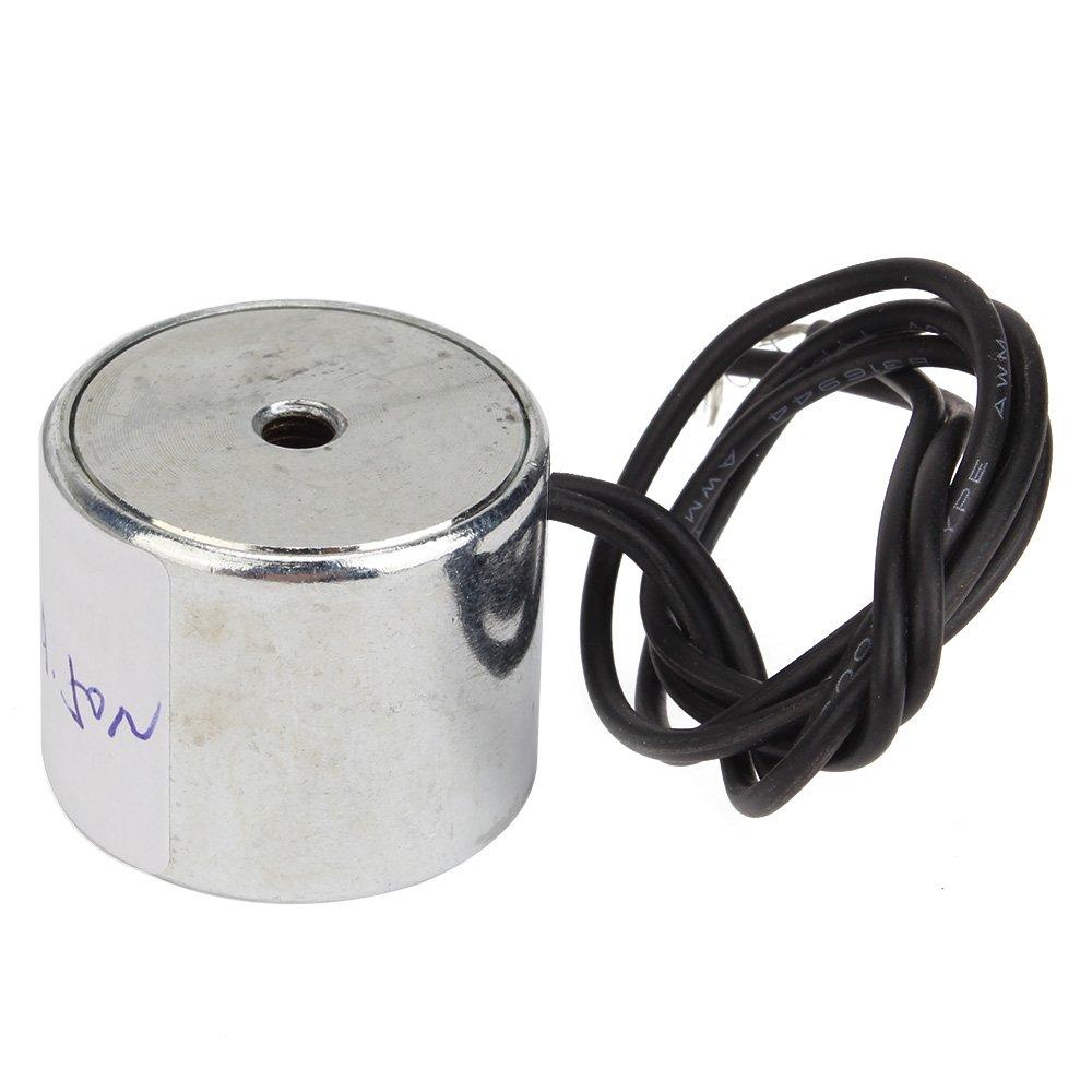 BQLZR Metall 11LB 5kg Elektrohubmagnet Halten Elektromagnet 12V DC 50N