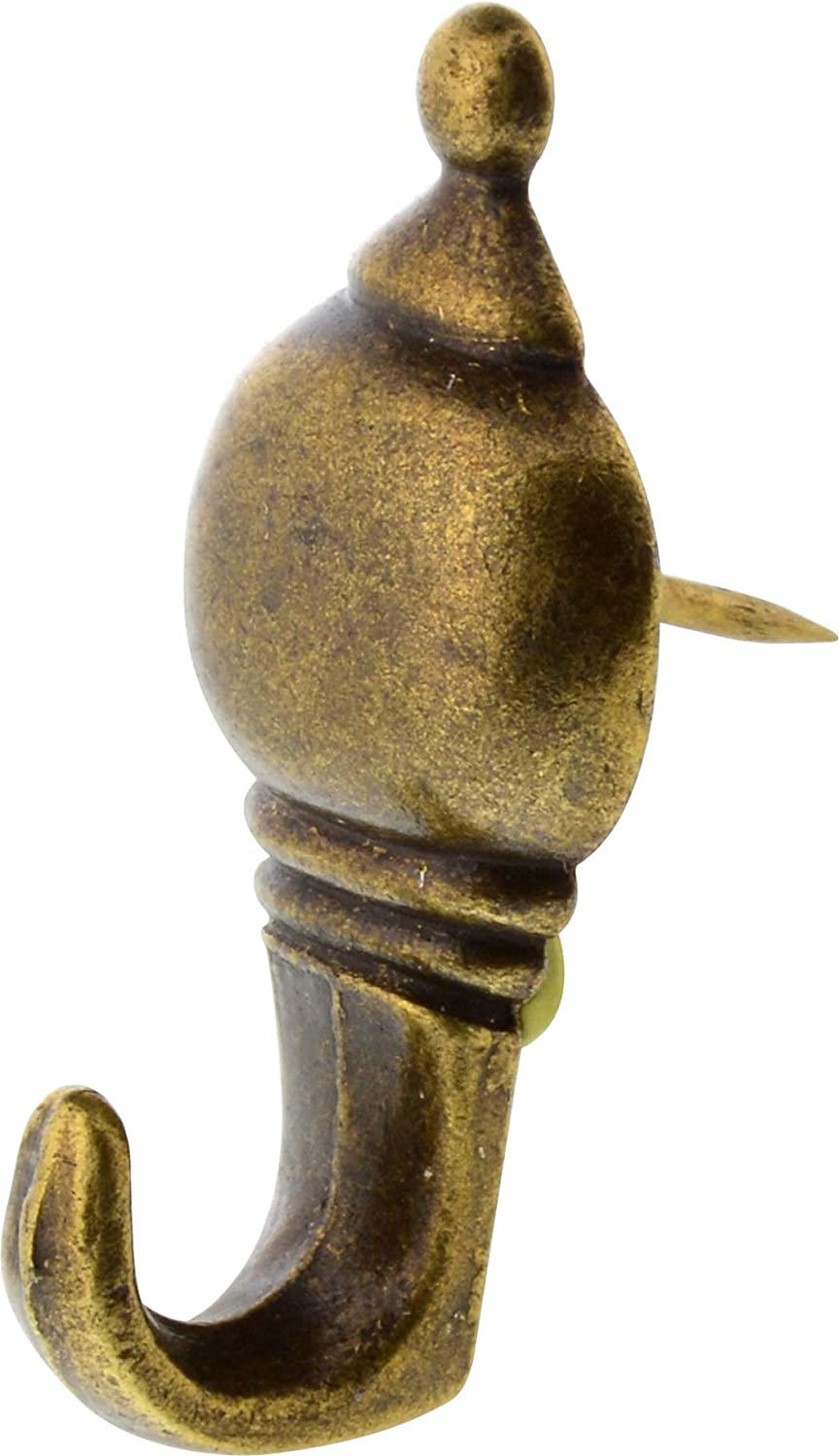 Amazon.com: Hillman Colonial Push Pin Hanger Antique Brass 10lb: Home Improvement