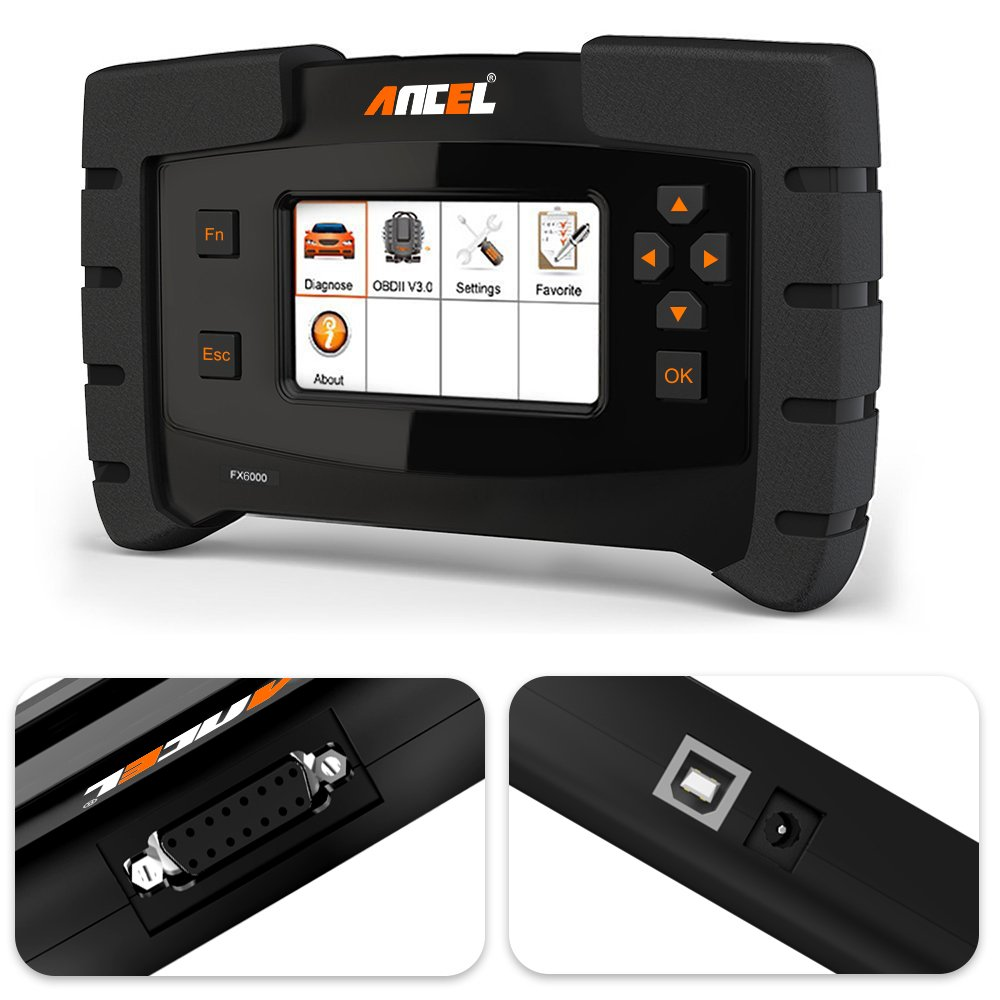 ANCEL FX6000 All System OBD2 Diagnostic Scan Tool with 11 OBD Connectors Automotive Code Scanner for Check Engine ABS SRS Transmission DPF TPMS EPB IMMO ECU Programming & Coding by ANCEL (Image #2)