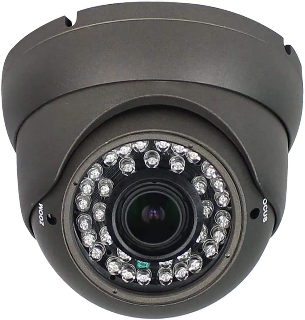2MP CCTV Camera HD 1080P 4-in-1 (TVI/AHD/CVI/960H/CVBS) Security Dome Camera, 2.8-12mm Varifocal Lens Analog Video Surveillance, Wide Angle Viewing Day & Night Indoor Outdoor Waterproof