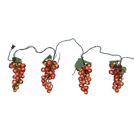 Amazon tuscan winery red grape summer garden patio christmas tuscan winery red grape summer garden patio christmas light set 5 clusters 35 lights mozeypictures Choice Image