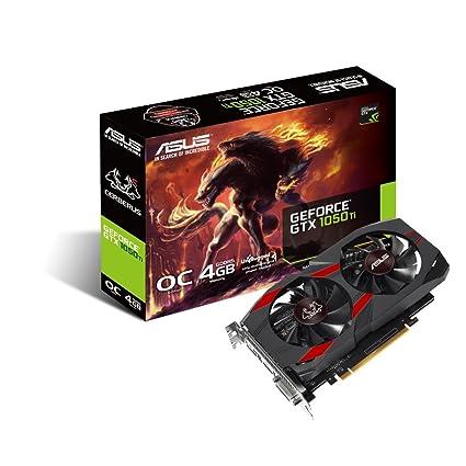 ASUS CERBERUS-GTX1050TI-O4G, Tarjeta Gráfica (GeForce GTX 1050 Ti, 4GB, GDDR5, 128 bit, 7680 x 4320 Pixeles, PCI Express 3.0, 1480 MHz), GeForce 9800 ...