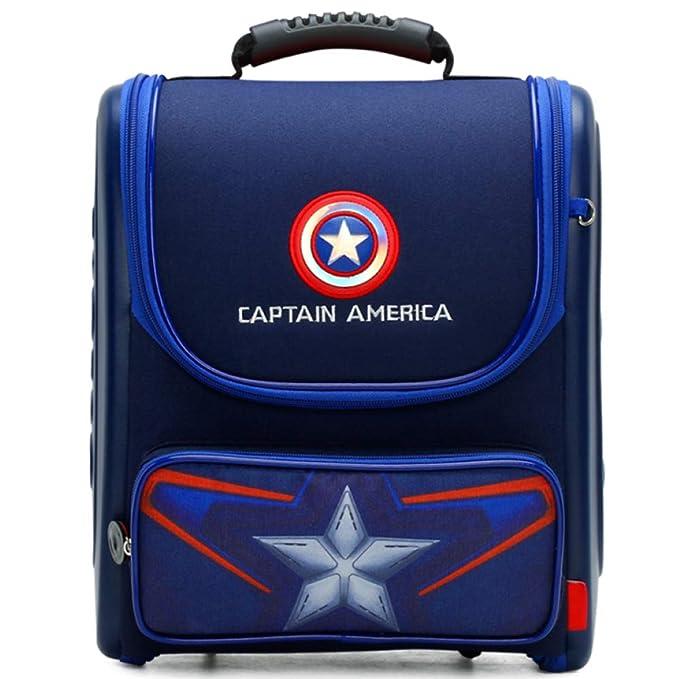 Spiderman Capitán América Mochila Escolar Para Niños Mochilas Para Adolescentes Para Niños Y Niñas Mochilas Escolares,CaptainAmerica-38 * 28 * 17cm: ...