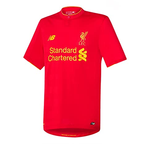 2c5bbb7d59d New Balance Men s Lfc Home Short Sleeve Football Jersey  Amazon.co ...
