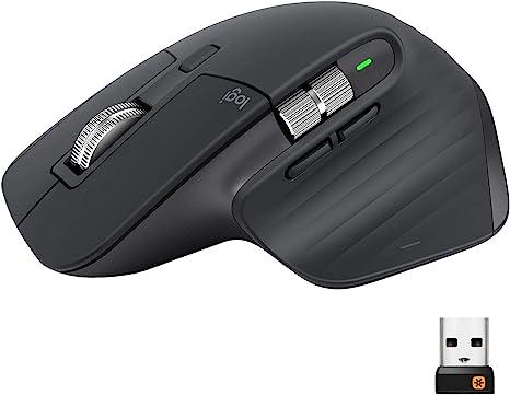 Logitech MX Master 3 Ratón Inalámbrico, Receptor USB, Bluetooth/2.4GHz, Desplazamiento Rápido, Seguimiento 4000 DPI en Cualquier Superficie, 7 Botones, Recargable,PC/Mac/Portátil/iPadOS,Gris oscuro: Logitech: Amazon.es: Informática