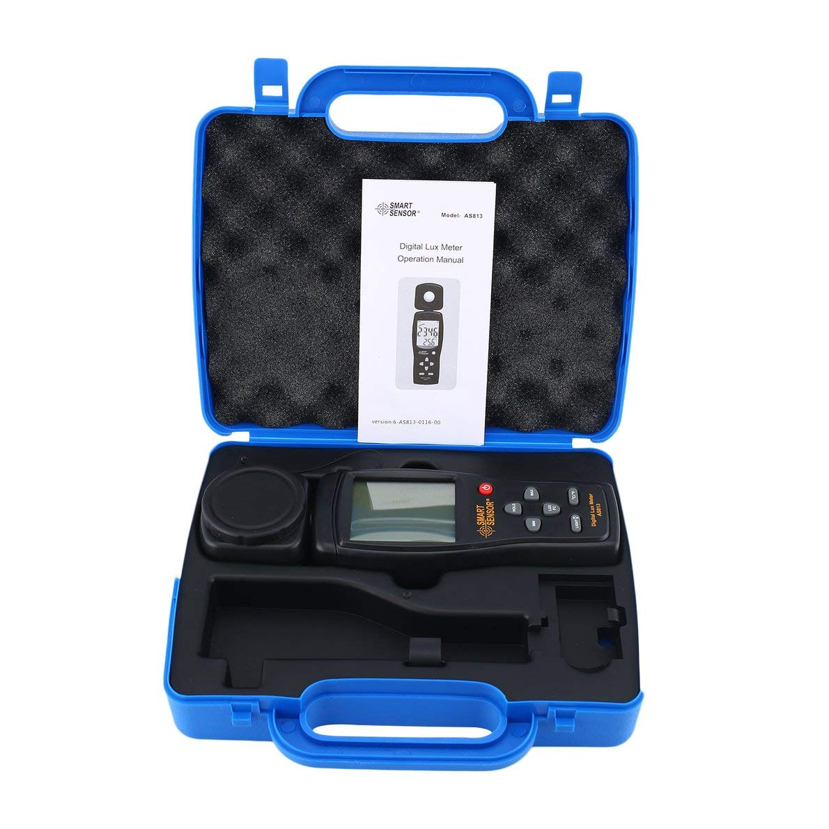 Uqiangbao Fit AS813 Digital Luxmeter Light Meter Lux/FC Meter Luminometer Photometer 100,000 Lux spectrometer spectrophotometer