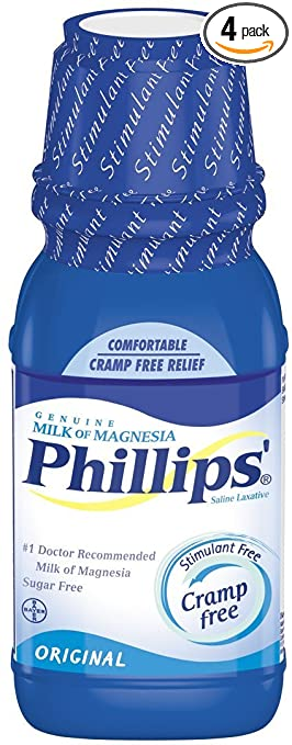 Phillips Milk of Magnesia, Original, 12-Ounce Bottles (Pack of 4