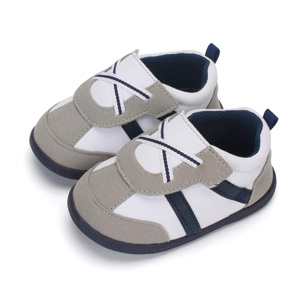 LACOFIA Baby Jungen Freizeit Sneakers Kleinkind Lauflernschuhe rutschfeste Gummisohle Klettverschluss Turnschuhe