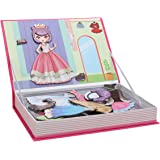 Meryi Magnetic Dress Up Jigsaw Puzzle Games for Girls - Play Set with Storage Case Early Educational Toys (Dress Up)