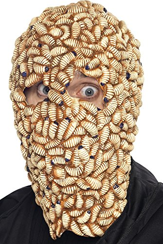 Monster Collection On The Zombie Adult Costumes (Smiffys Men's Maggot Mask)